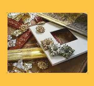 Dorature Foglia oro argento bronzo Ossidi Terre Pigmenti
